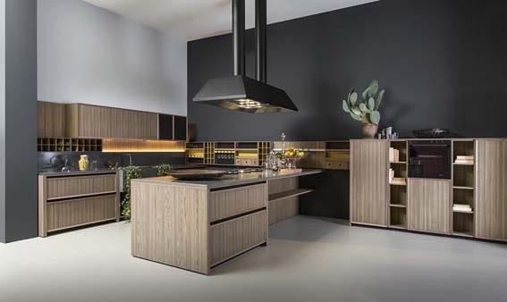 cuisine de luxe  design italien Comprex matériaux recyclables