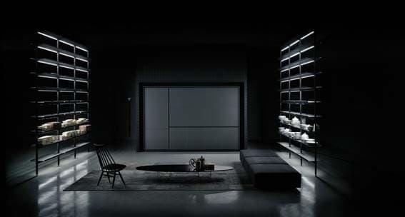 cuisine de luxe noire Alberto Colonello design italien Boffi