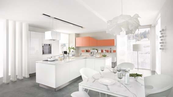 modèle blanc graphique cuisine équipée cuisinella