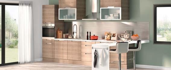 modèle cuisine bois petit prix