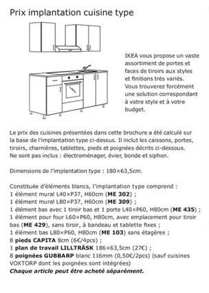 composition type cuisine IKEA