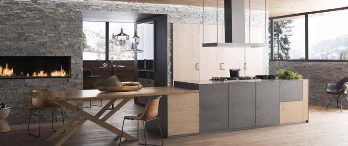 modèle design bois et gris Perene