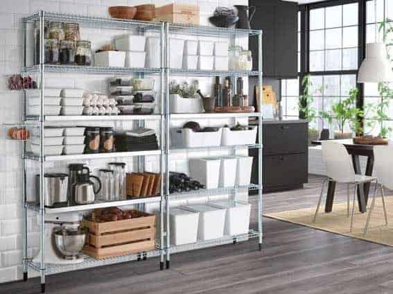 acheter cuisine équipée IKEA étagères