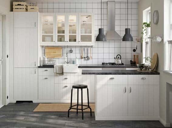 cuisine blanche IKEA Hittarp