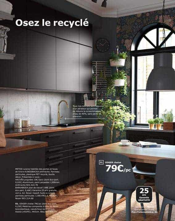 cuisine équipée IKEA matériaux recyclés