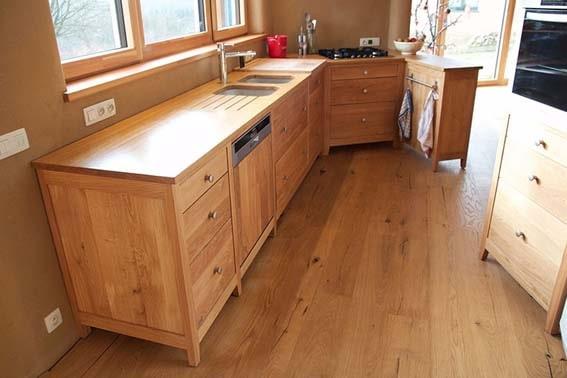 cuisine en bois massif en chêne