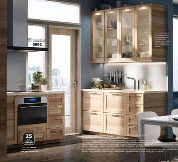 cuisine équipée en bois IKEA